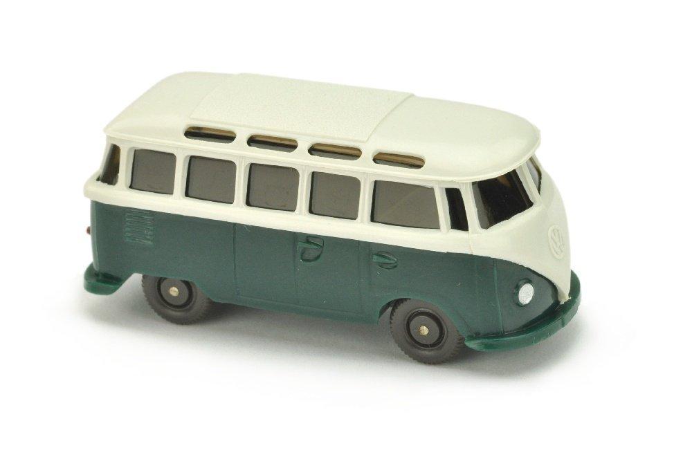 VW T1 Sambabus, papyrusweiss/blaugruen