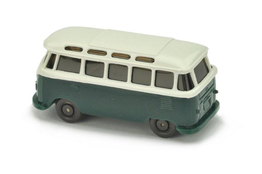 VW T1 Sambabus, papyrusweiss/blaugruen - 2