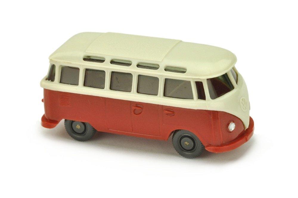 VW T1 Sambabus, perlweiss/weinrot