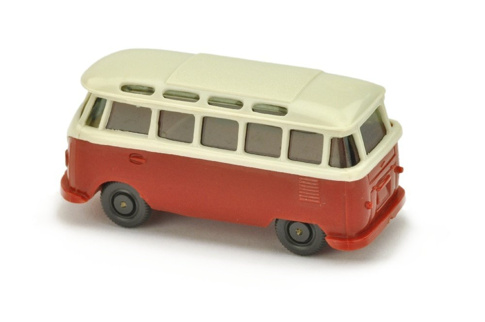 VW T1 Sambabus, perlweiss/weinrot - 2