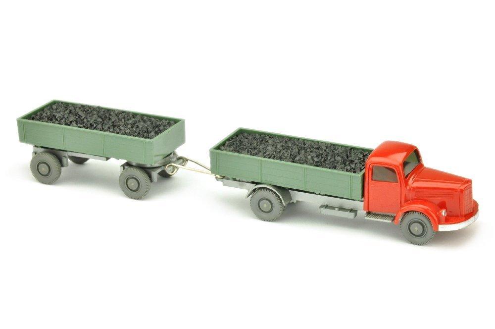 Kohlenzug MB 3500, rot/d'resedagruen/silbern