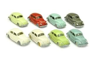 Konvolut 8 VW Kaefer (Typ 5) der 60er Jahre