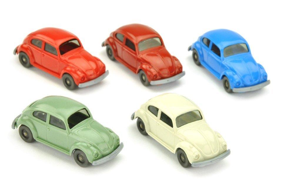 Konvolut 5 VW Kaefer (Typ 6) der 70er Jahre
