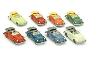 Konvolut 8 VW Kaefer Cabrios (Typ 2) der 60er J.