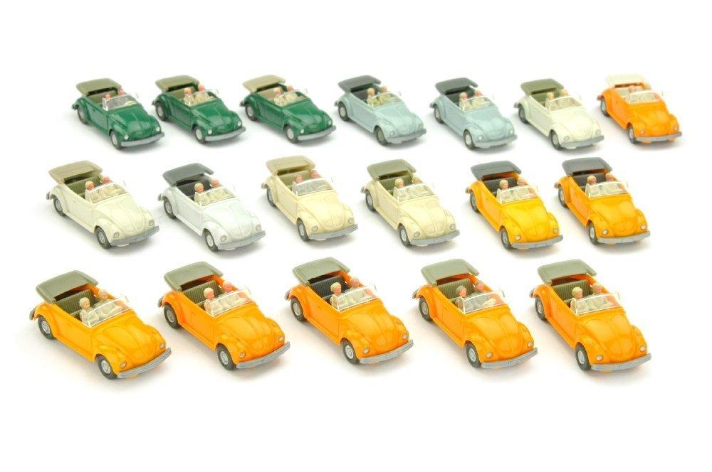 Konvolut 18 VW Kaefer Cabrios (Typ 3) der 70er J: