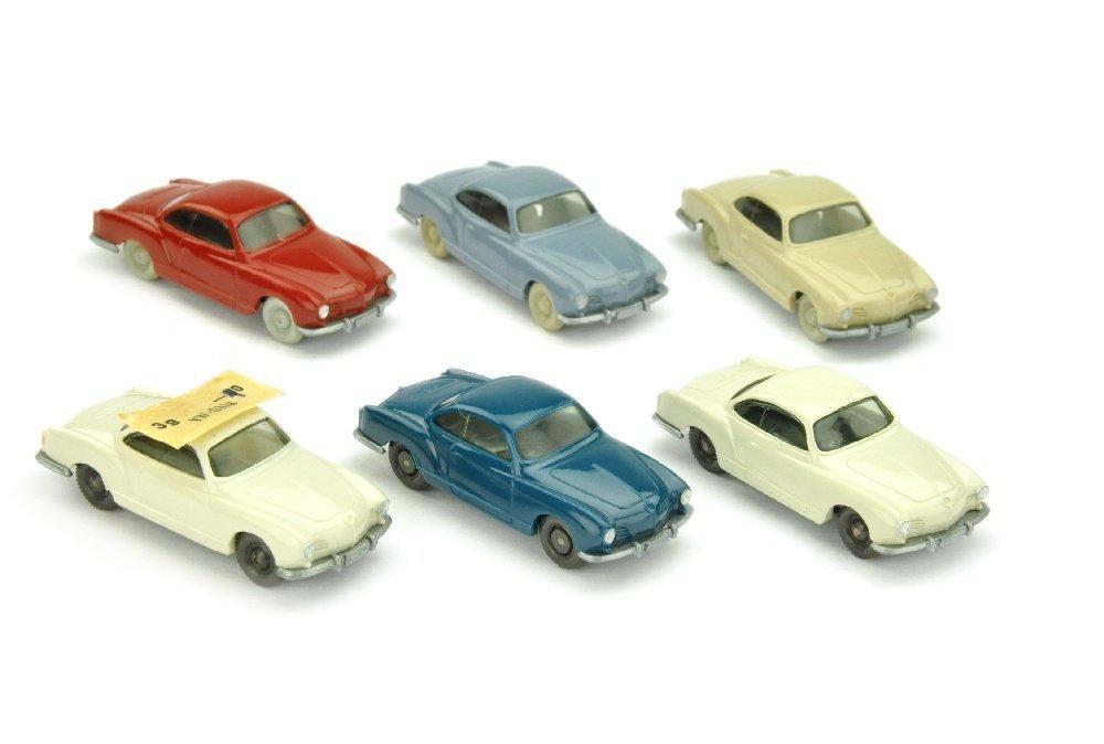 Konvolut 6 VW Karmann Ghias der 60er Jahre