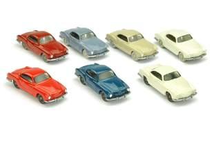 Konvolut 7 VW Karmann Ghias der 60er Jahre