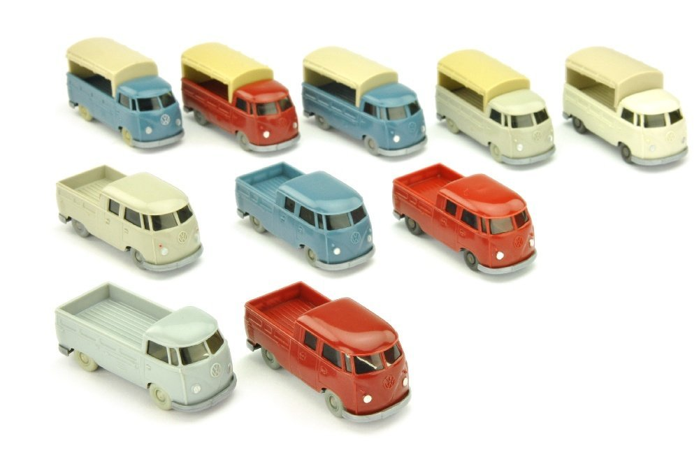 Konvolut 10 VW T1 Pritschen/Doppelkabinen