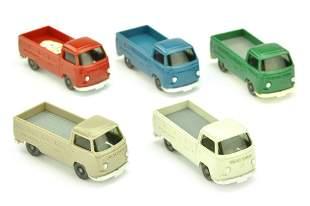 Konvolut 5 VW T2 Pritschen der 70er Jahre
