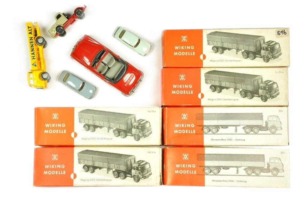 Konvolut 11 Modelle der 70er Jahre