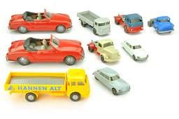 Konvolut 9 Modelle der 70er Jahre