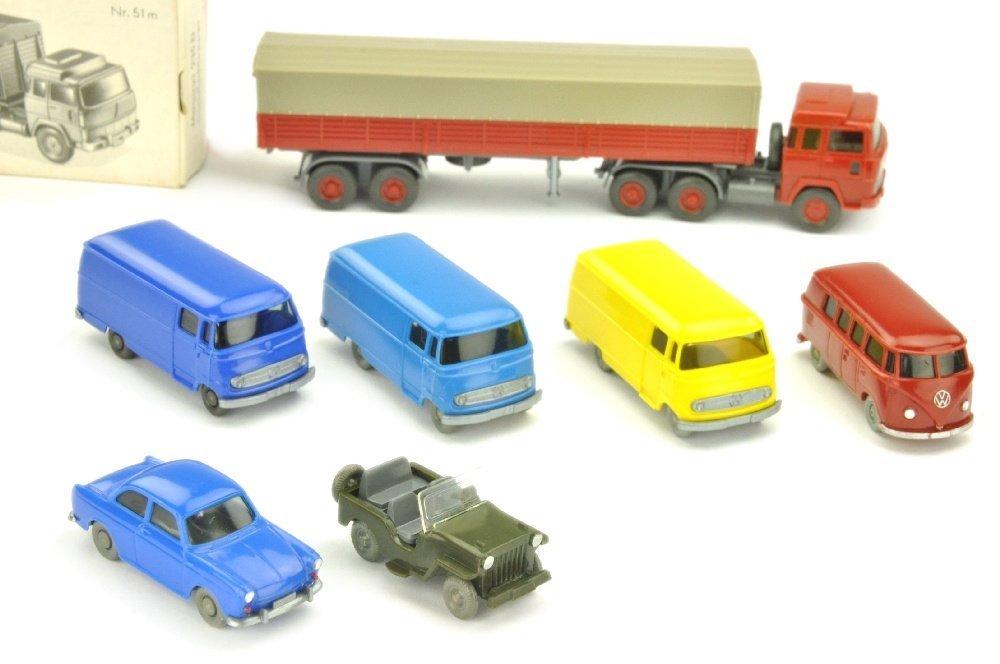 Konvolut 7 Modelle der 60er/70er Jahre