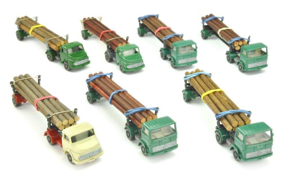 Konvolut 7 Langholztransporter der 60er/70er J.
