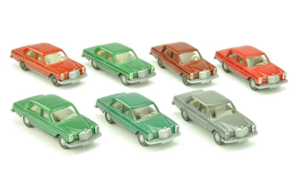 Konvolut 7 Mercedes 200/8 der 70er Jahre