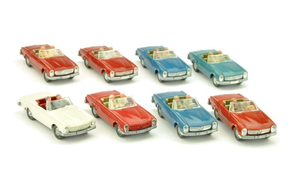 Konvolut 8 MB 230 SL Cabrios der 60er/70er Jahre