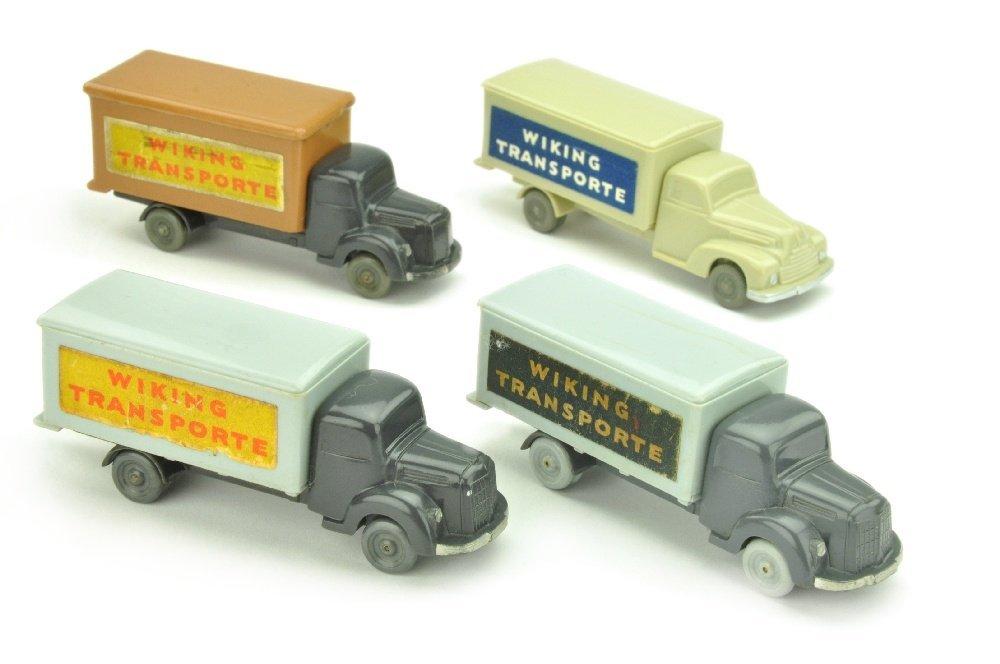 Konvolut 4 unverglaste Koffer-LKW