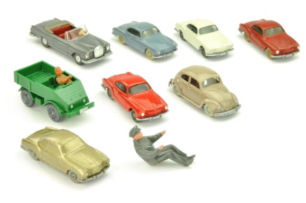 Konvolut 8+1 Modelle der 50er/70er Jahre