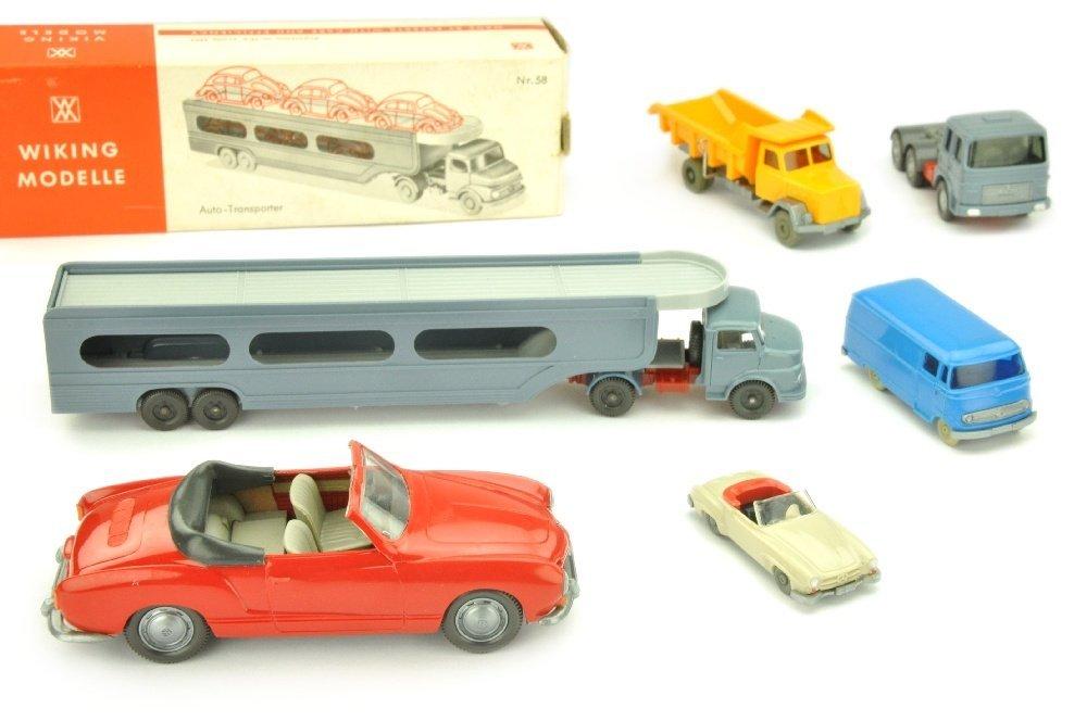 Konvolut 6 Modelle der 60er Jahre