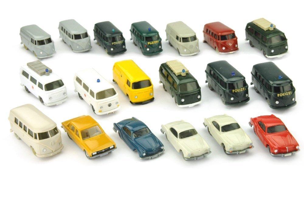 Konvolut 19 VW-PKW der 60er/70er Jahre