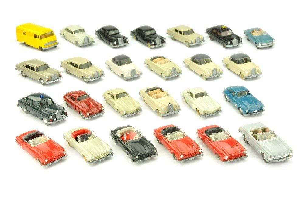 Konvolut 25 Mercedes-PKW der 60er/70er Jahre