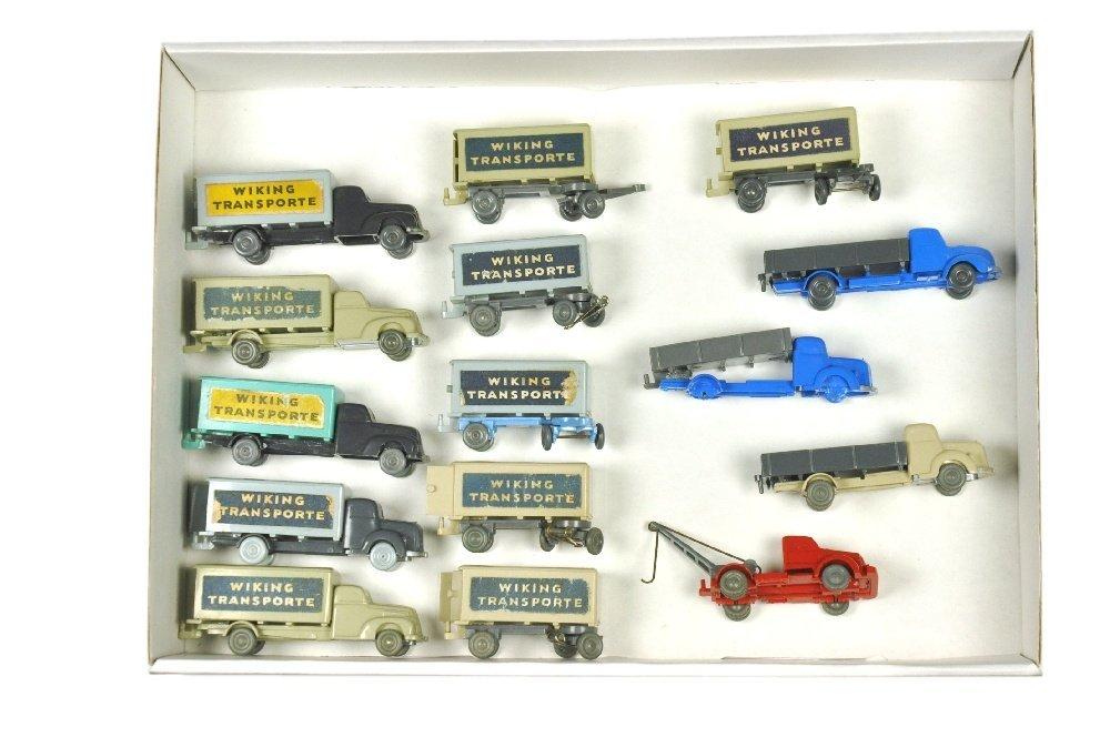 Konvolut 15 unverglaste Modelle