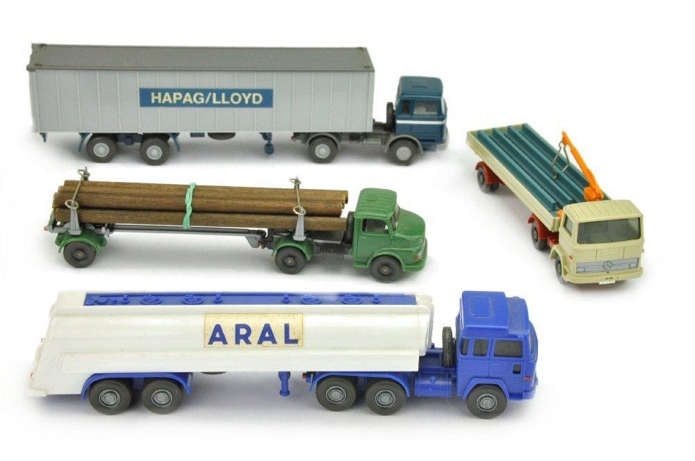 Konvolut 4 LKW der 70er Jahre (nur bemalt)