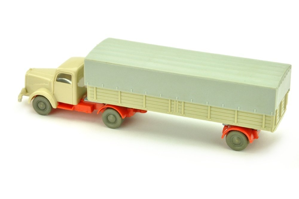 Pr.-Sattelzug MB 5000, hellgelbgrau/orangerot - 2