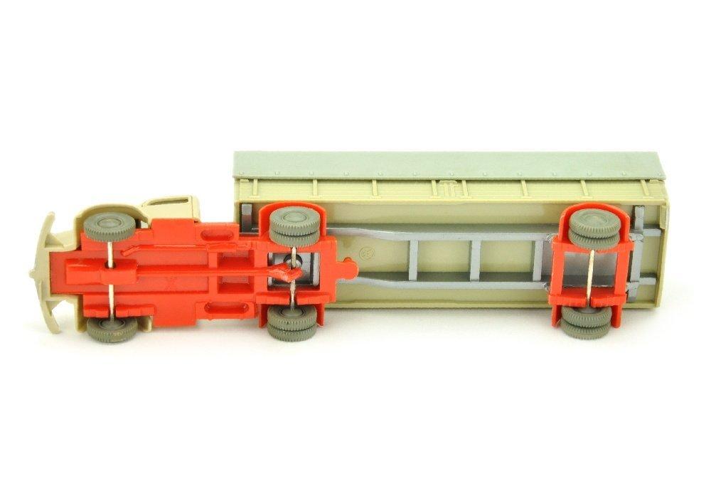 Pr.-Sattelzug MB 5000, hellgelbgrau/orangerot - 3