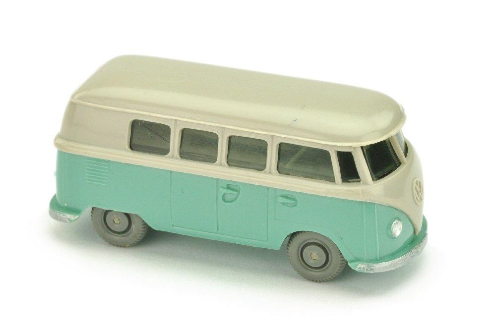 VW T1 Bus (alt), d'-achatgrau/tuerkis