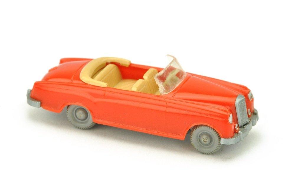 Mercedes 220 Cabrio, orangerot