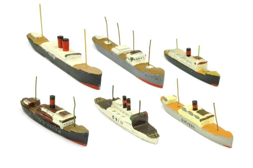PILOT - Konvolut 6 Passagierschiffe