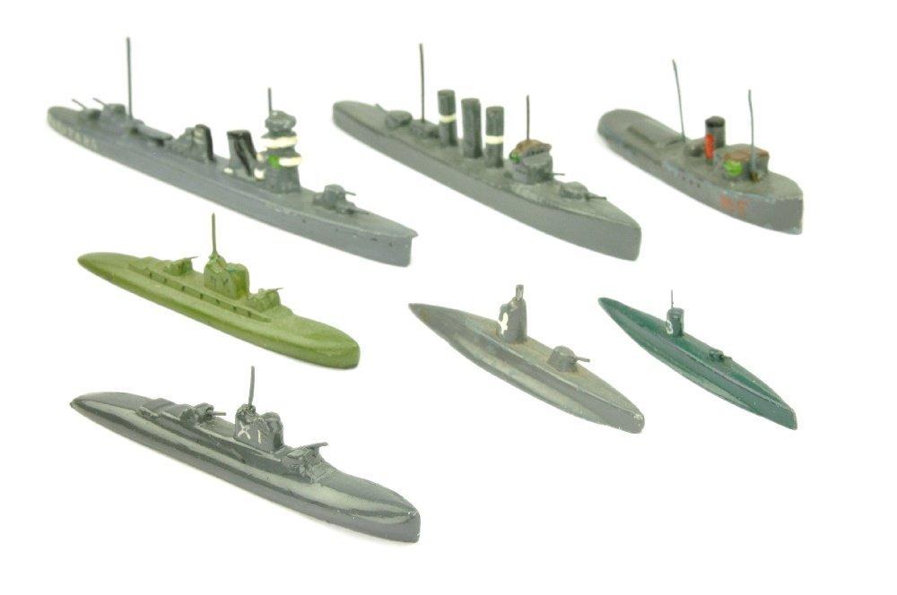 PILOT - Konvolut 7 Kriegsschiffe