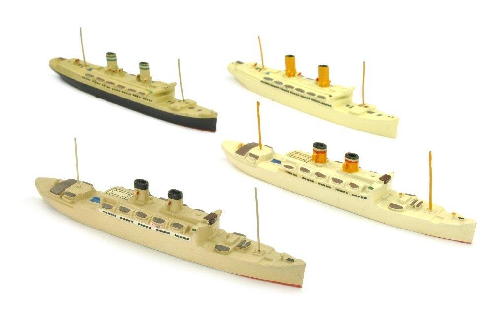 Konvolut 4 Passagierschiffe