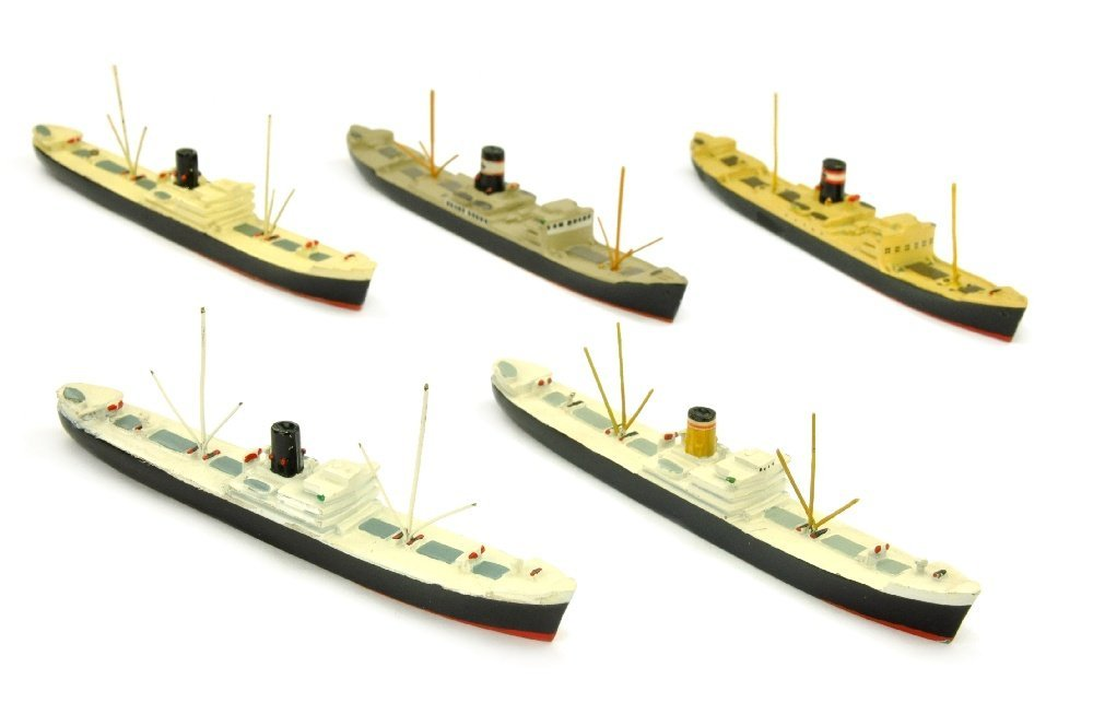 Konvolut 5 Frachtschiffe Hohenfels