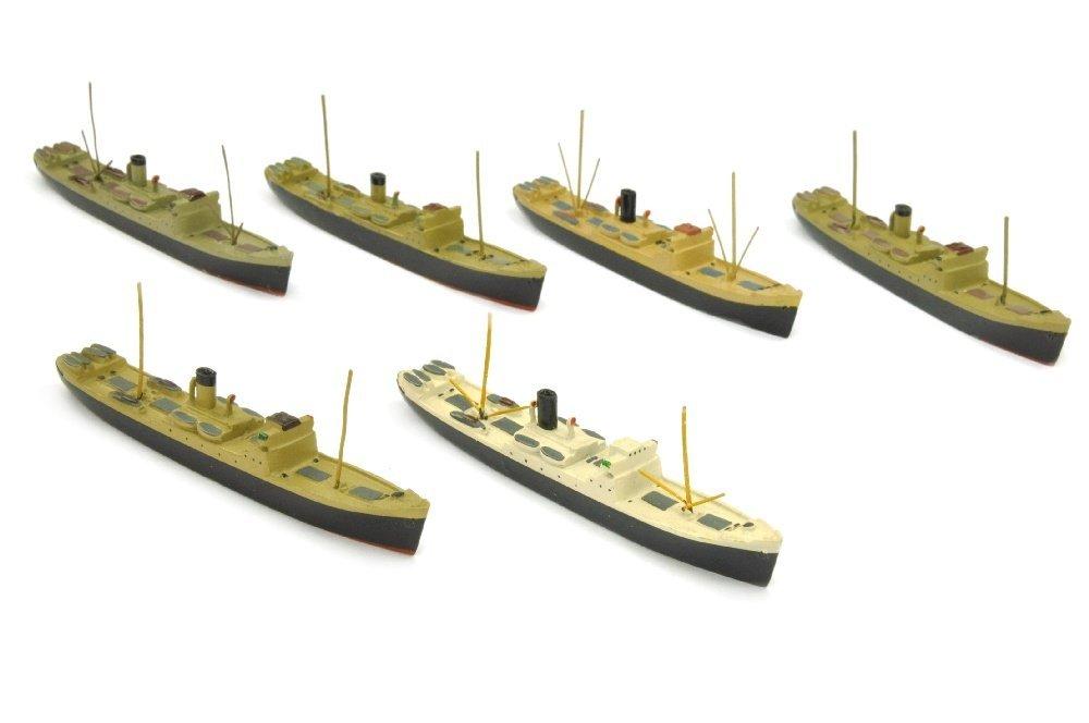 Konvolut 6 Frachtschiffe Kamerun/Togo