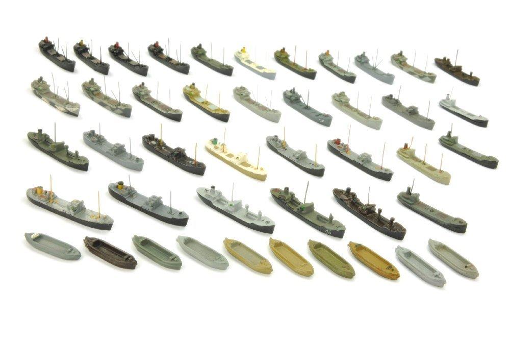 Konvolut 44 kleine Frachtschiffe