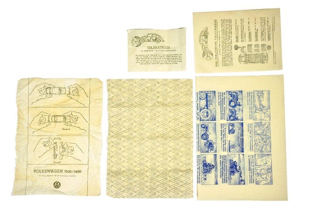 Konvolut 5 Wickelpapiere der 50er/60er Jahre