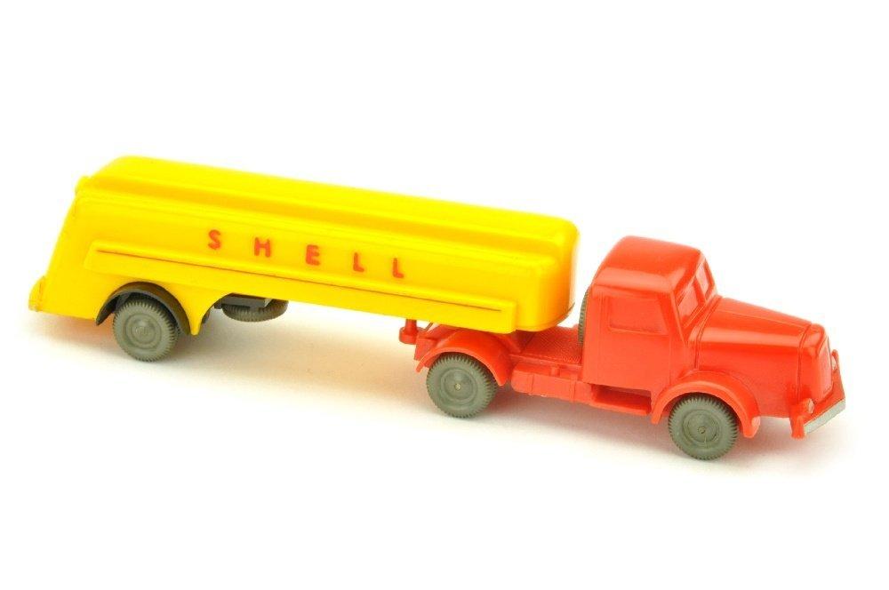 Shell-Tanksattelzug Henschel, orangerot