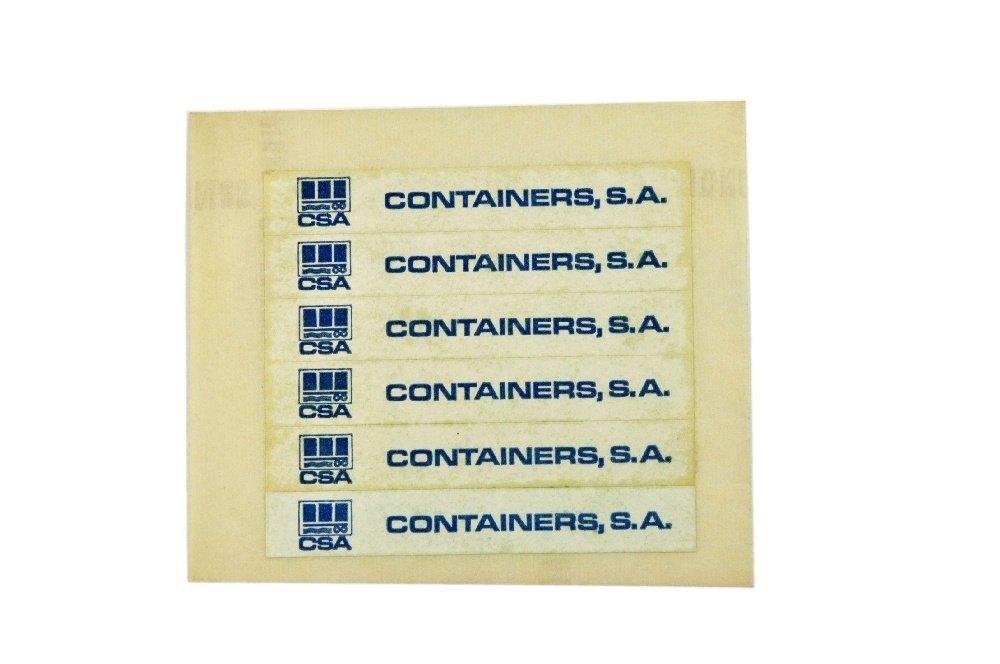 Restposten Aufkleber fuer Werbemodell Container SA