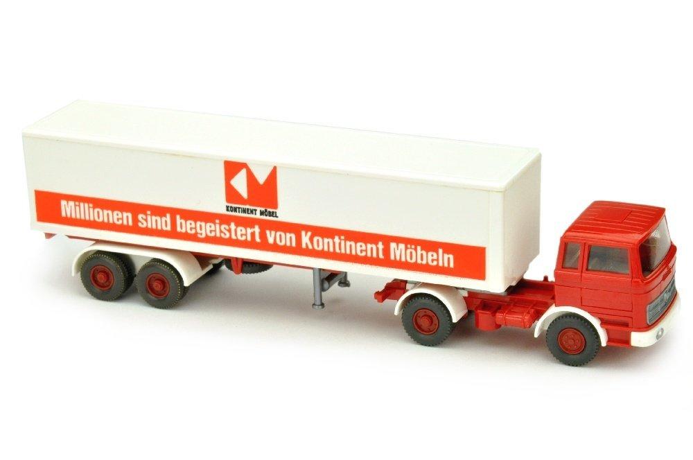 Kontinent/B - Koffer-Sattelzug MB 1620, rot