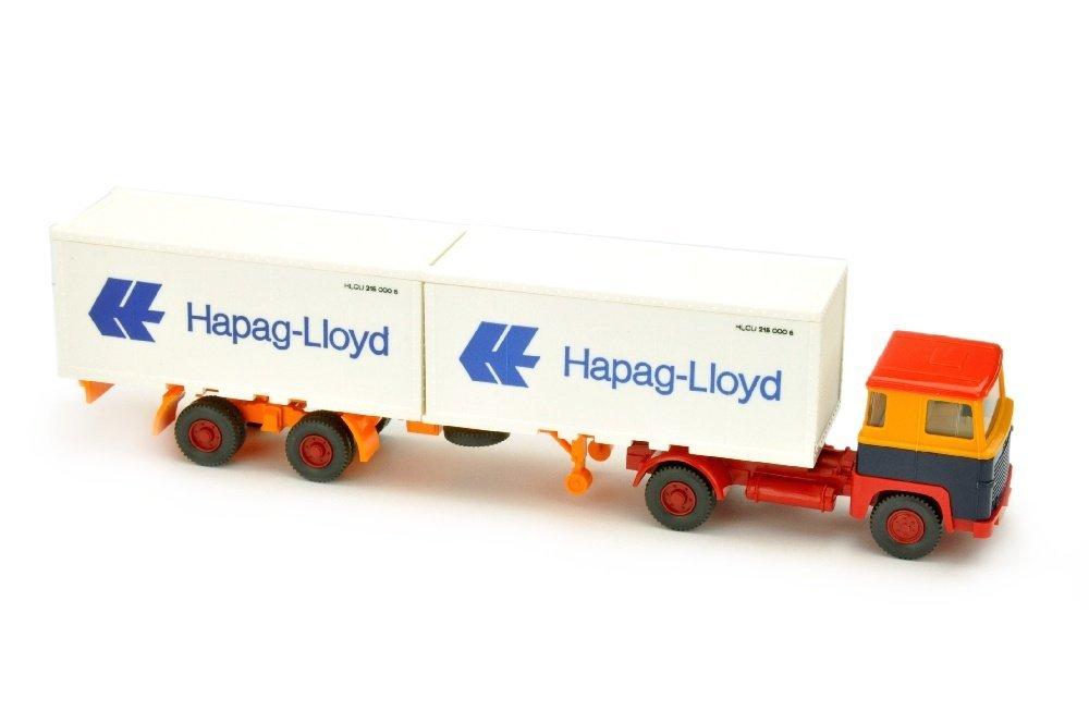 Hapag-Lloyd/11A - Scania 111, chromgelb/stahlblau