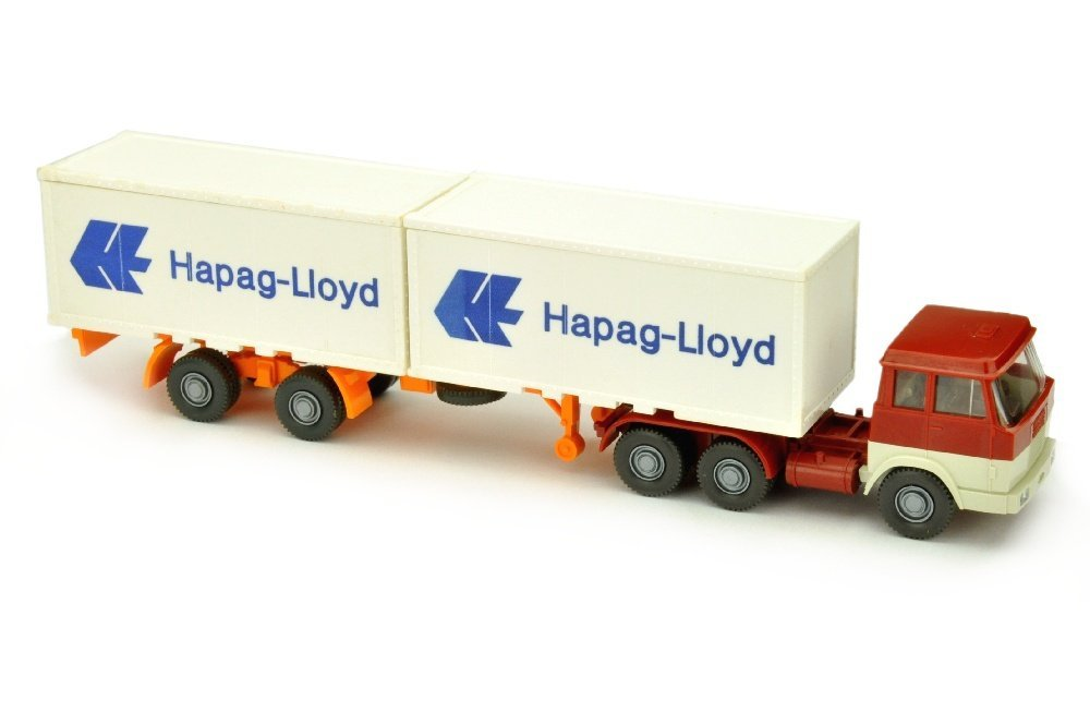 Hapag-Lloyd/7BO - Hanomag, weinrot/perlweiss