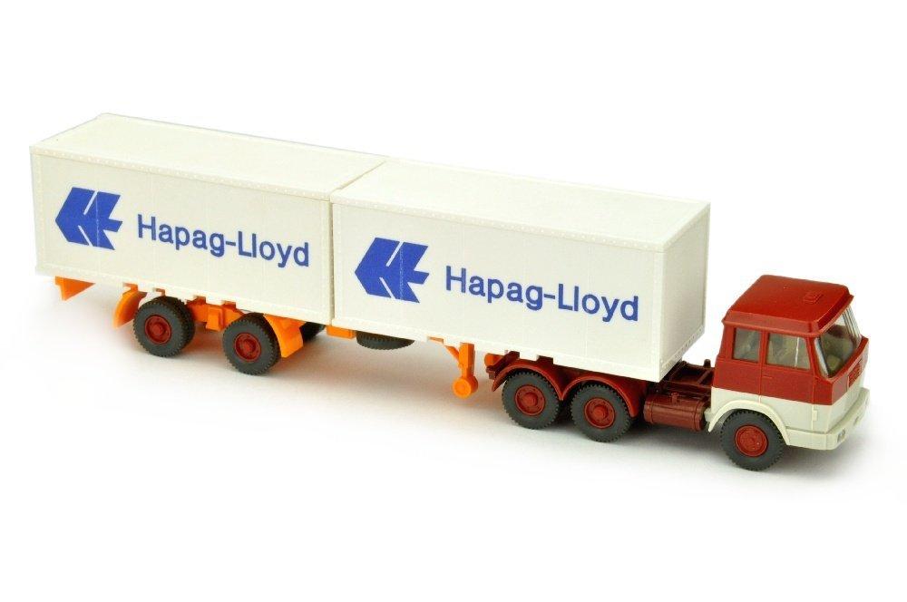 Hapag-Lloyd/7BP - Hanomag, weinrot/grauweiss