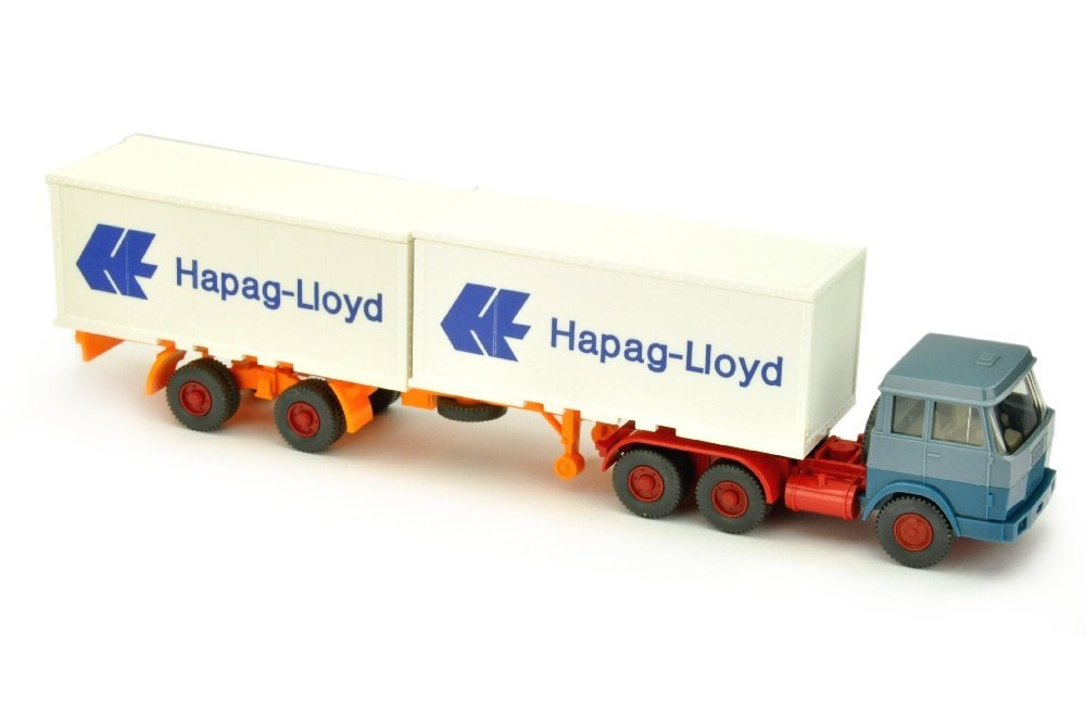 Hapag-Lloyd/7ED - Hanomag, graublau/azurblau
