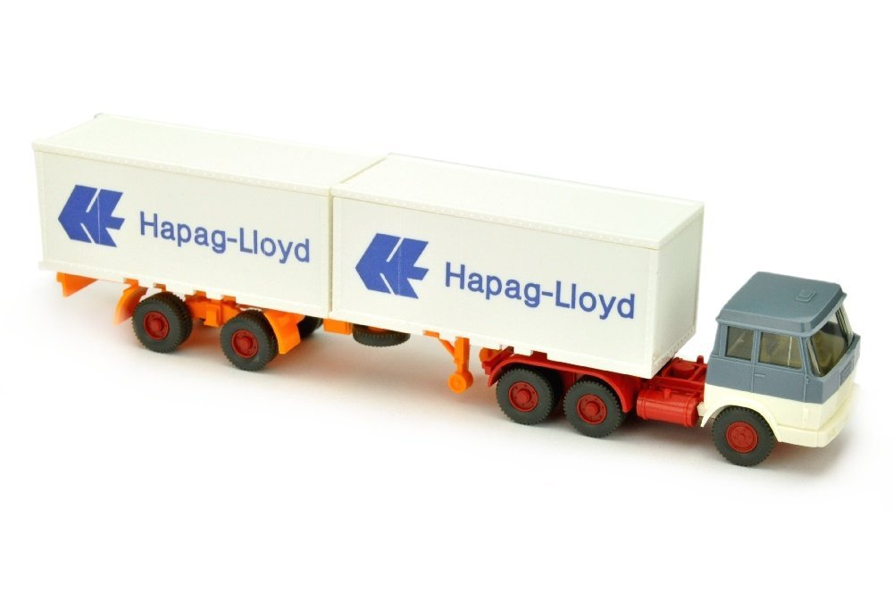 Hapag-Lloyd/7EM - Hanomag, graublau/weiss