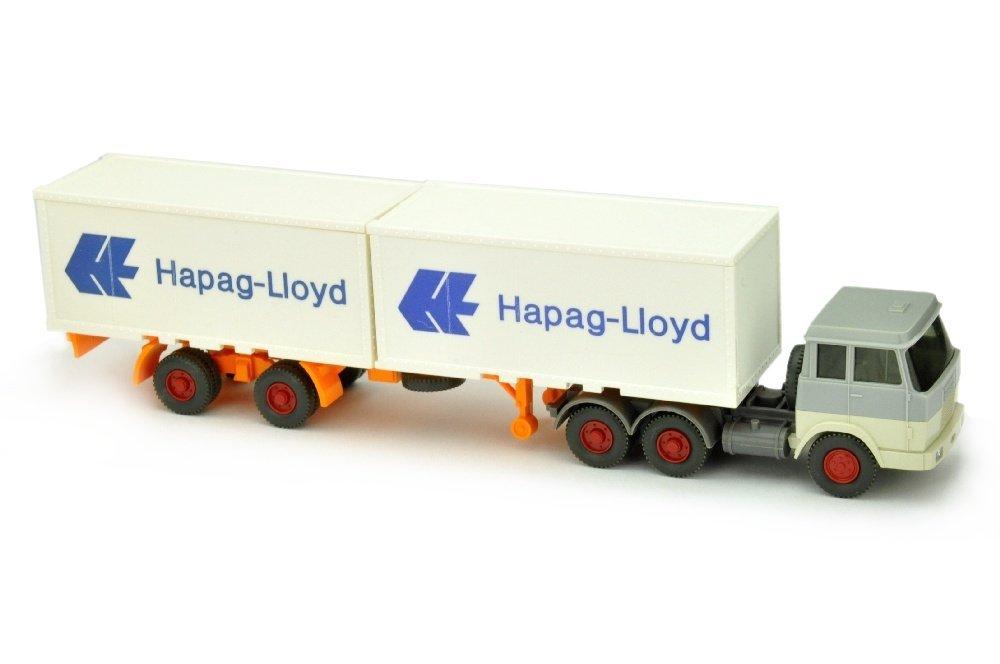 Hapag-Lloyd/7HO - Hanomag, silbergrau/perlweiss