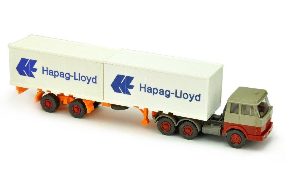 Hapag-Lloyd/7JB - Hanomag, olivgrau/weinrot