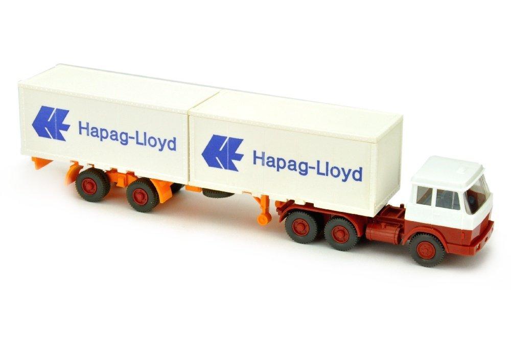 Hapag-Lloyd/7MB - Hanomag, weiss/weinrot