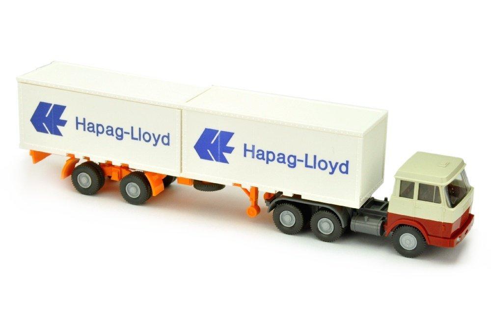 Hapag-Lloyd/7OB - Hanomag, perlweiss/weinrot