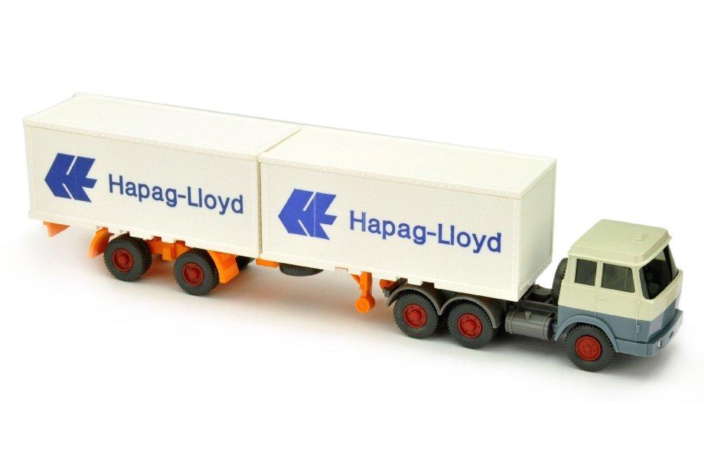 Hapag-Lloyd/7OE - Hanomag, perlweiss/graublau